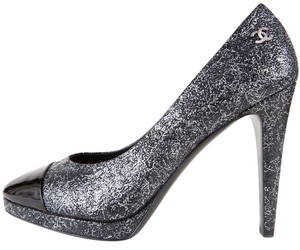 Chanel Black & Silver Pumps