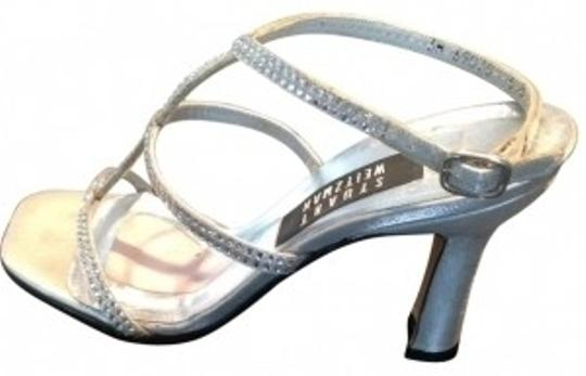 Stuart Weitzman silver with rhinestones Formal