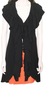 Alice + Olivia Vest Ruffled Shawl Sweater Tunic