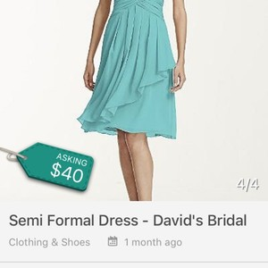 David's Bridal Guava Dress