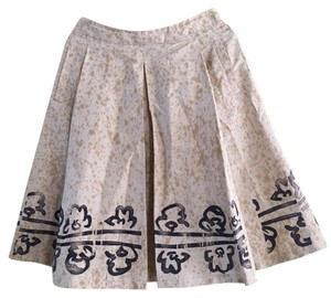 Prada Skirt Cream Brown Black