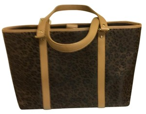 St. John Tote in Dark Tan Black Leopard