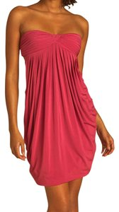 BCBGMAXAZRIA Strapless Cut-out Bubble Ruched Dress