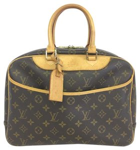Louis Vuitton Lv Monogram Deauville Canvas Tote in brown