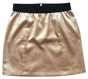 Forever 21 Mini Skirt Gold