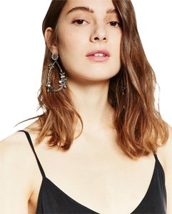 Zara NEW!!! Tags Floral Faux Pearl Tear Drop Earrings