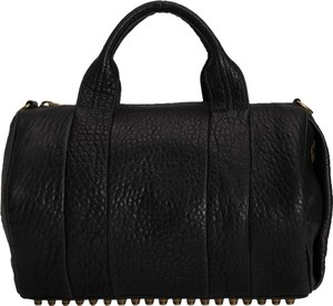 Alexander Wang Studded Rocco Dumbo Satchel in black