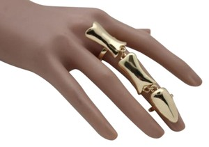 Other Women Ring Gothic Jewelry Gold Metal Skeleton Bones Long Finger Skull