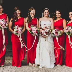5 Bridesmaids Bouquets And 1 Bridal Bouquet!!