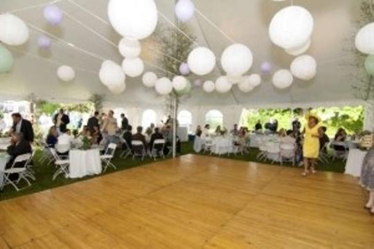White Purple and Sea Green 50+ Assorted Paper Lanterns with Lights Reception Decoration