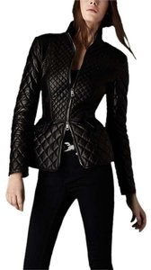 Burberry Quilted Leather Biker Lambskin Moto Leather Jacket