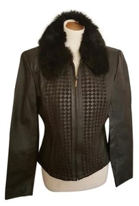 Marvin Richards Leather Fur Brown Leather Jacket