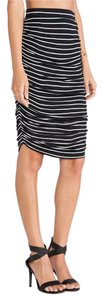 Anthropologie Rushed Striped Stretchy And White Splendid Skirt BLACK