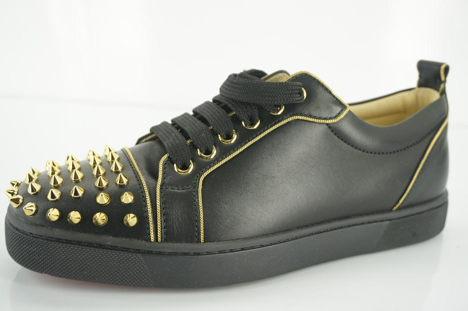 sports shoes 75e9b 280a5 Christian Louboutin Black Leather Rush Gold Spiked Low Top Sneakers Size EU  39 (Approx. US 9) Regular (M, B) 43% off retail