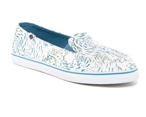 Sperry Slip On Cushion Insole white/blue Flats