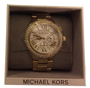 Michael Kors MICHAEL KORS Camille Gold Bracelet Glitz 43mm Chrono Watch