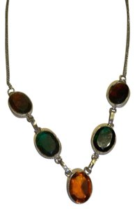 Silver Co. Tri-Color Tourmaline Silver Necklace