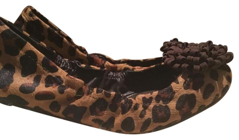4e6d6f6a47b5 Calvin Klein Brown and Black Leopard Ballet Flats Pumps Size US 8 ...
