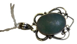 Silver Co. Grass Green Jade Silver Pendant