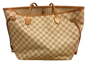 Louis Vuitton Tote in Damier Azur Canvas