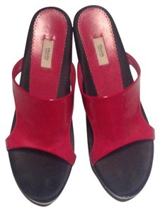 Prada Red and black Wedges