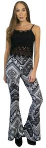 See You Monday Bell Yoga Flare Pants Black, Grey