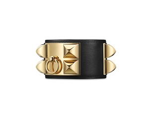 Hermès Collier de Chien bracelet Black & Gold