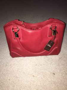 Cole Haan Leather Tote in Red