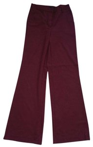 Vero Moda Work 70's 1970 Flare Holiday Wide Leg Pants Maroon