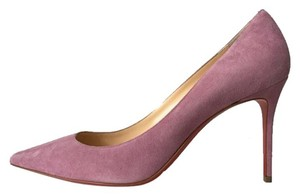Christian Louboutin Decollete 554 Rosette Suede Pink Pumps