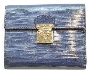 Louis Vuitton Epi Koala Wallet Blue