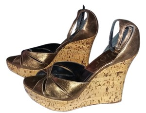 Dior Heels. New Bronze Wedges