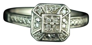 sterling silver, genuine diamond, fashion ring