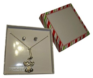 Amy's Treasure Box Angel Charm Necklace and Earrings