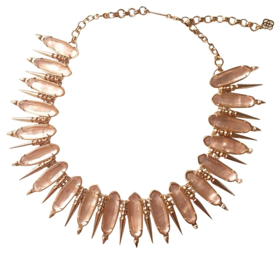 a3198d647e41a Kendra Scott Illusion Peach W/ Rose Gold Sale Limited Time Offer Stunning  Gwendolyn Statement Necklace 51% off retail
