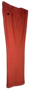 Talbots Cuffed Cuff Winter Bright Color Trouser Pants Coral Tweed