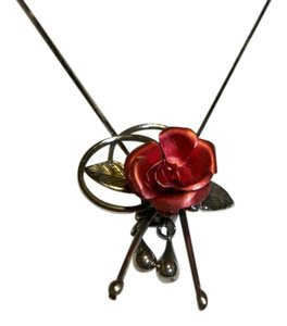 Amy's Treasure Box Enchanting Rose Charm Necklace