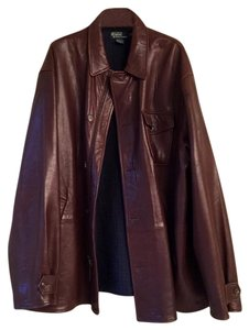 Polo Ralph Lauren Coat Leather Brown Brown/Espresso Leather Jacket