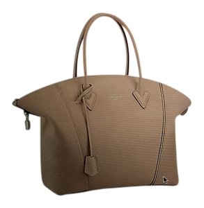 Louis Vuitton Leather Tote in Grey/ beige