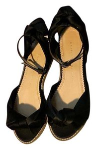 Charlotte Olympia Silk Satin Classic Black Sandals