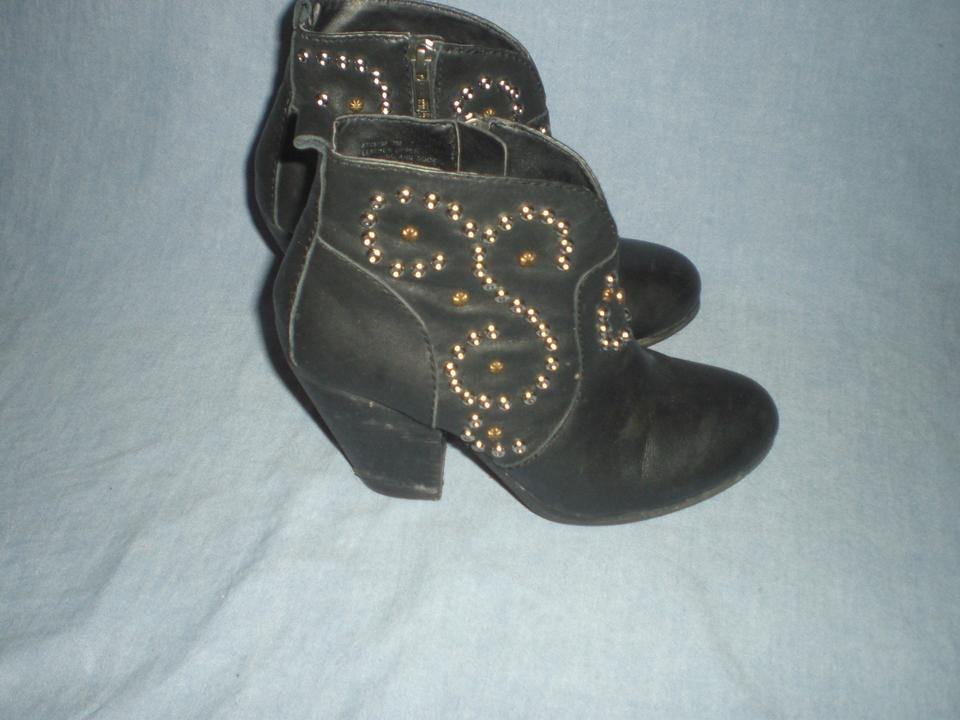 069f478e1dc Steve Madden Black Awsum Leather Ankle Boots/Booties Size US 7 Regular (M,  B) 57% off retail