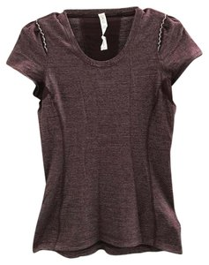 Lululemon EUC Lululemon Star Runner Short Sleeve Tee Top - Bordeaux, 8