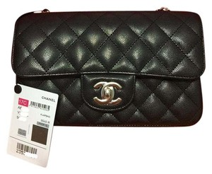 Chanel Caviar Flap Mini Flap Cross Body Bag