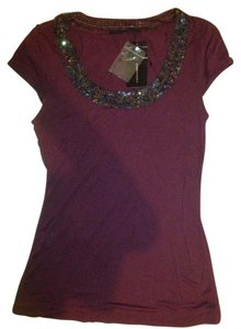 BCBGMAXAZRIA Bcbg Beaded S Scoop Top