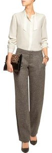 Alice + Olivia Wool Wool Tweed Straight Pants brown