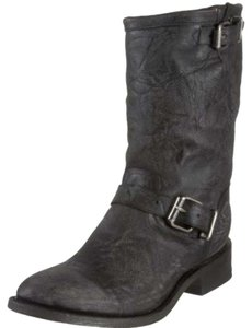Miz moos Motorcycle Boot Mid Calf distressed black Boots