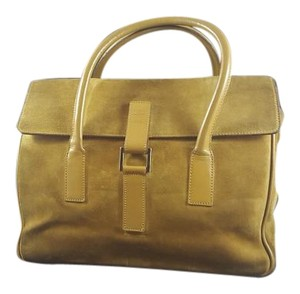 Gucci Suede Satchel in Yellowish / Gold