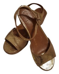Tory Burch Sparkle Gold Wedges