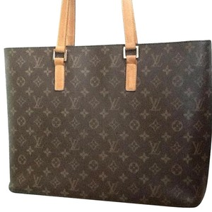 Louis Vuitton Lv Leather Luco Tote in Brown