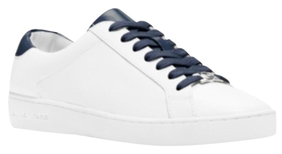 ccf135a8752 Michael Kors Optic Navy Women s Irving Lace-up Sneakers Sneakers ...
